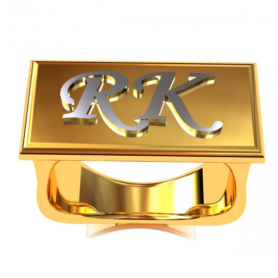 Couple First Letter Ring