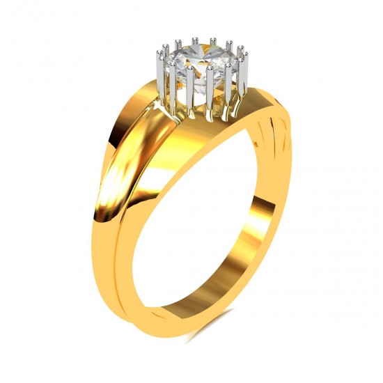 Gents Solitaire Ring