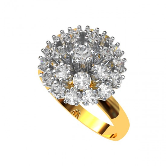 American Diamond Cluster Cocktail Rings