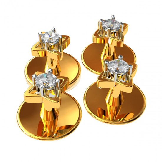 American Diamond Floral Buttons