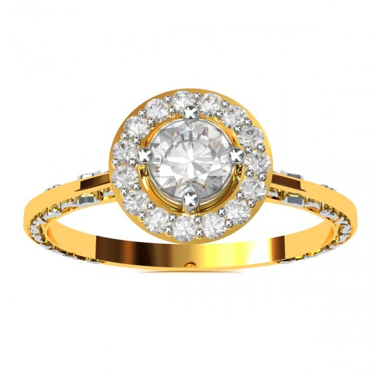 Round Solitaire Band
