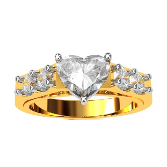 Heart Solitaire Engagement Ring
