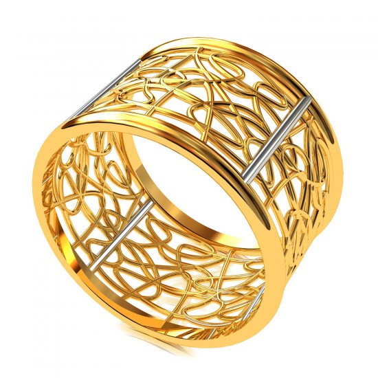 Wide Band Wedding Ring
