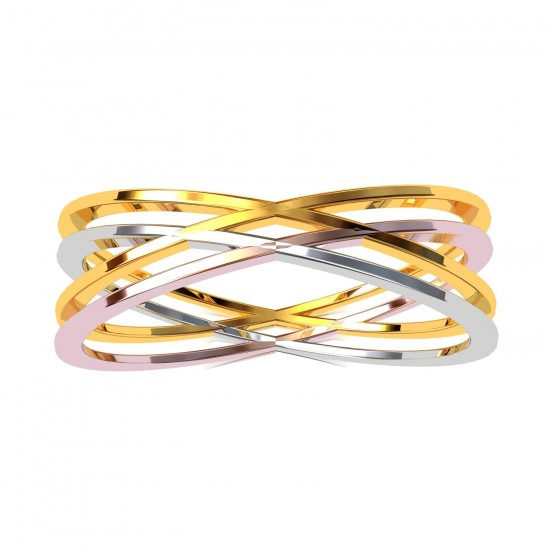 Tri Color Band Ring