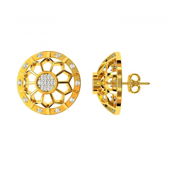 Round Gold Earring