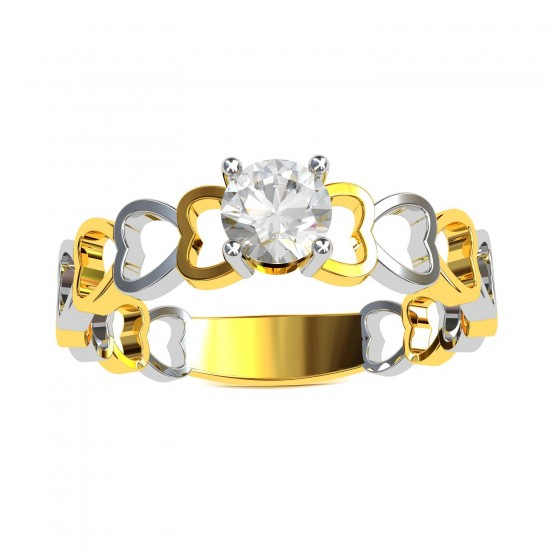 Solitaire Heart Ring