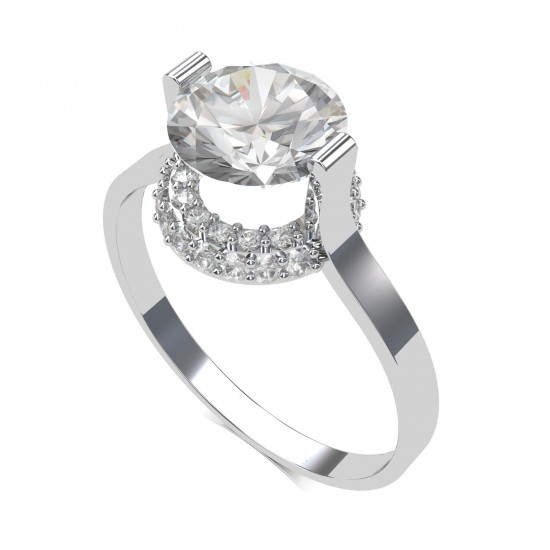 2 Carat American Diamond Solitaire Ring