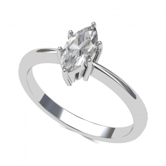 Marquise-Cut Diamond Solitaire Ring