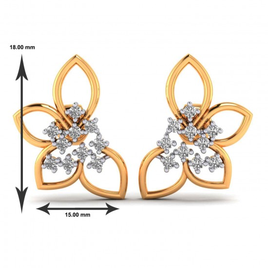 New Generation Rose Gold Earring